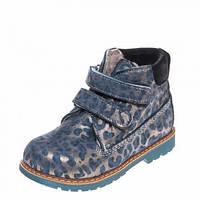 Ботинки зима 9005(387)синий леопард (31-36)