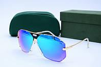 Солнцезащитные очки Caz 905 голубое зеркало