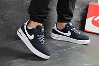 Мужские кроссовки Nike Air Force AF 1 (темно-синие)