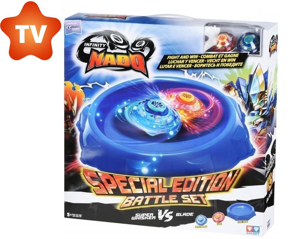Арена Auldey Infinity Nado комплект с двумя волчками Стандарт Небесний Вихор и Вогняний Клинок Special Edition