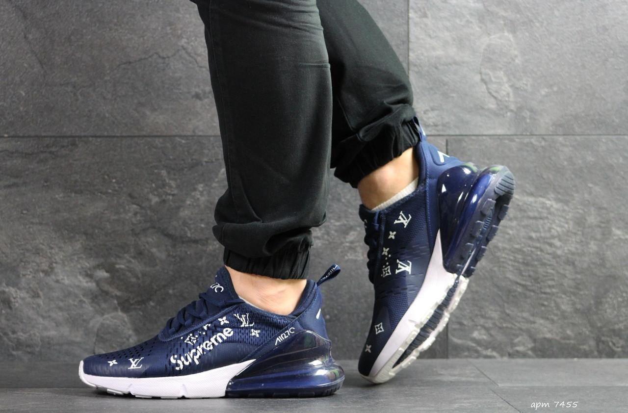 Модные кроссовки Nike air max 270 x Supreme, синие
