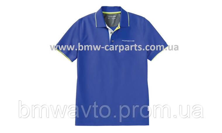 Мужское поло Porsche Golfsport Men's Polo Shirt - Sport, Aqua Blue, фото 2