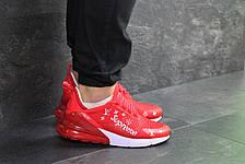 Модные кроссовки Nike air max 270 x Supreme,красные 44р, фото 2