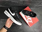 Мужские кроссовки Nike Air Force AF 1 (черно-белые), фото 4