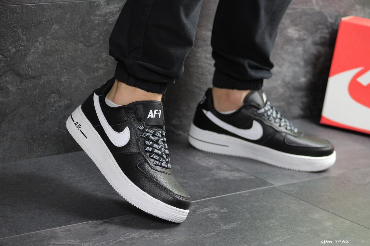 Мужские кроссовки Nike Air Force AF 1 (черно-белые)