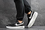 Мужские кроссовки Nike Air Force AF 1 (черно-белые), фото 6