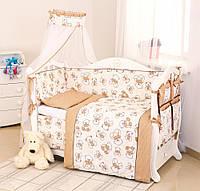 Детский постельный комплект Twins Dolce D-004 Мишки, бежевый