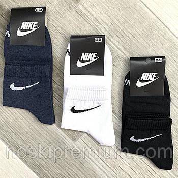Носки мужские демисезонные х/б спортивные Nike, Athletic Sports, средние, ассорти, 11507