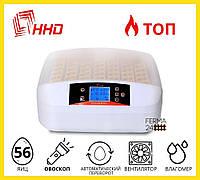 Инкубатор для яиц автоматический HHD 56s автоматический с дисплеем и овоскопом, фото 1