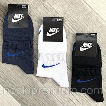 Носки мужские демисезонные х/б спортивные Nike, Athletic Sports, средние, ассорти, 11508