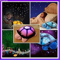 Ночник черепаха Turtle, проектор звездного неба, Детский музыкальный ночник