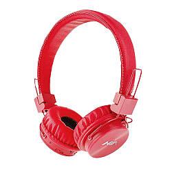 NIA X3 Красные Беспроводные Bluetooth стерео наушники с МР3 и FM Red
