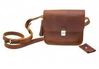 Кожаная сумка женская из натуральной кожи Эмма Плюс Коньяк