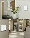Сенсорный выключатель  двойной цвет белый, фото 3