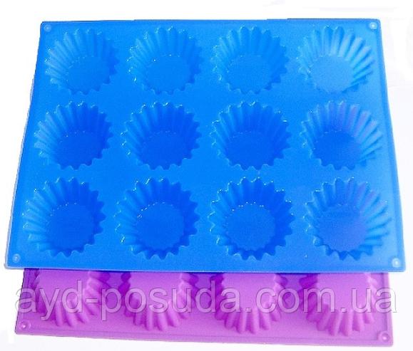 """Силиконовая форма для выпечки кексов """"Корзинка"""" арт. 830-5A-1"""