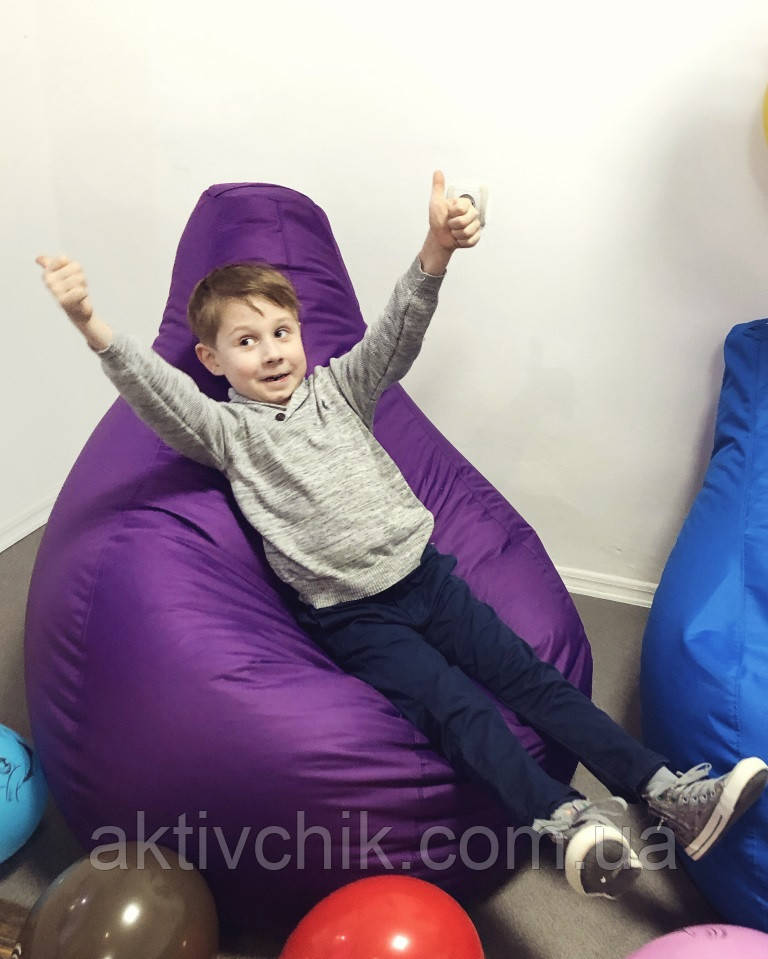 Кресло груша S (90*60см) для детей, Оксфорд, Темно-фиолетовый