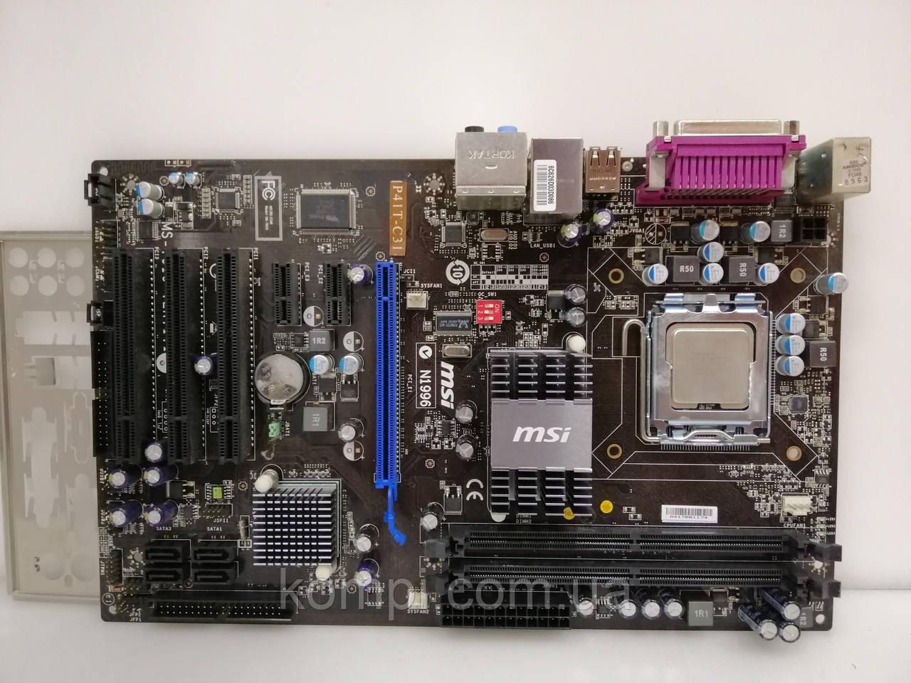 Материнская плата MSI P5P41T C31+E6300 S775/QUAD P41 DDR2