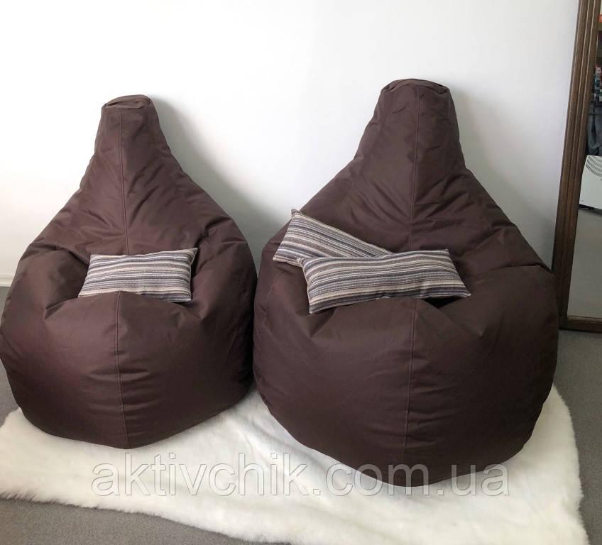 Кресло груша М (130*90см) Большой, Оксфорд, Коричневый