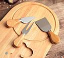 Набор для подачи сыра 3 ножа+доска GA Dynasty 11084, фото 3