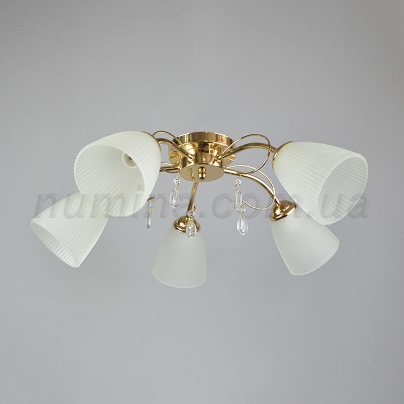 Люстра потолочная на пять лампочек KT-E134/5FGD+WT