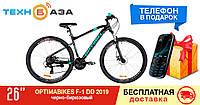 "Велосипед 26"" Optimabikes F-1 DD 2019 (черно-бирюзовый (м))"