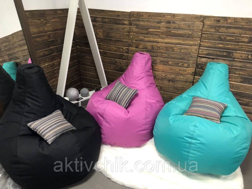Кресло груша L (150*110см) Гигант, Оксфорд, Черный