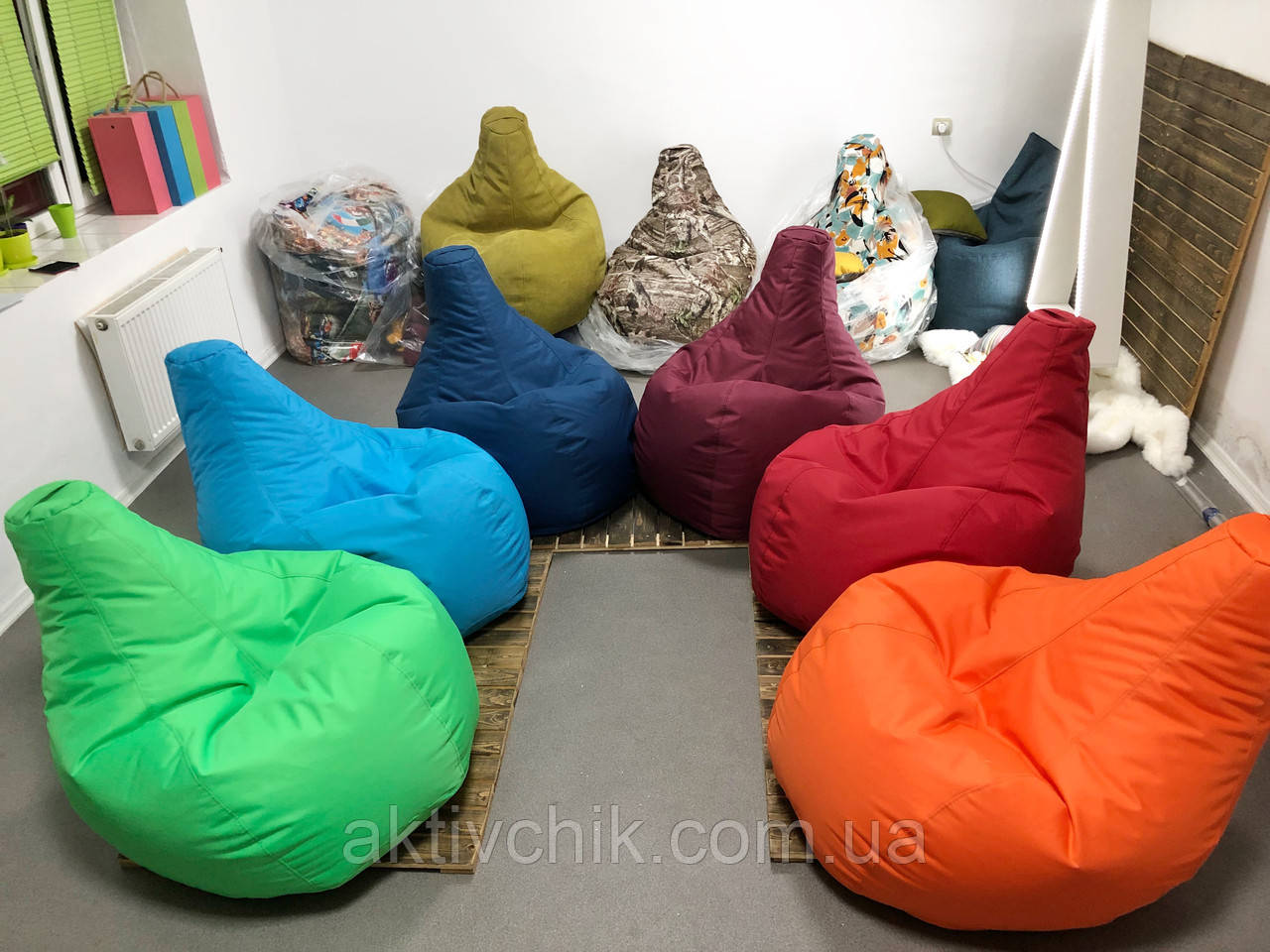 Кресло груша L (150*110см) Гигант, Оксфорд, Оранжевый