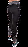 Спортивные чёрные лосины с серыми вставками, фото 2