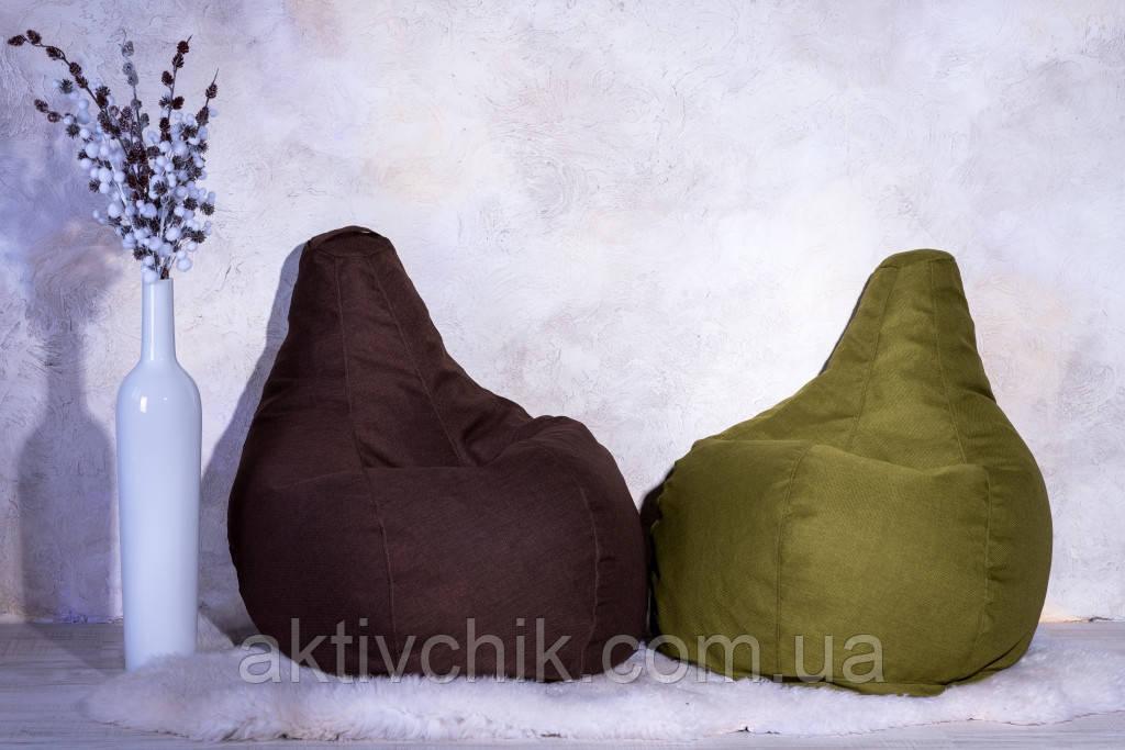 Кресло Груша, мебельная ткань Рогожка S (90*60см) для детей, Синий