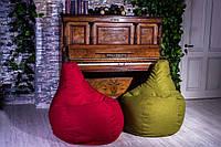 Кресло Груша, мебельная ткань Рогожка S (90*60см) для детей, Красный