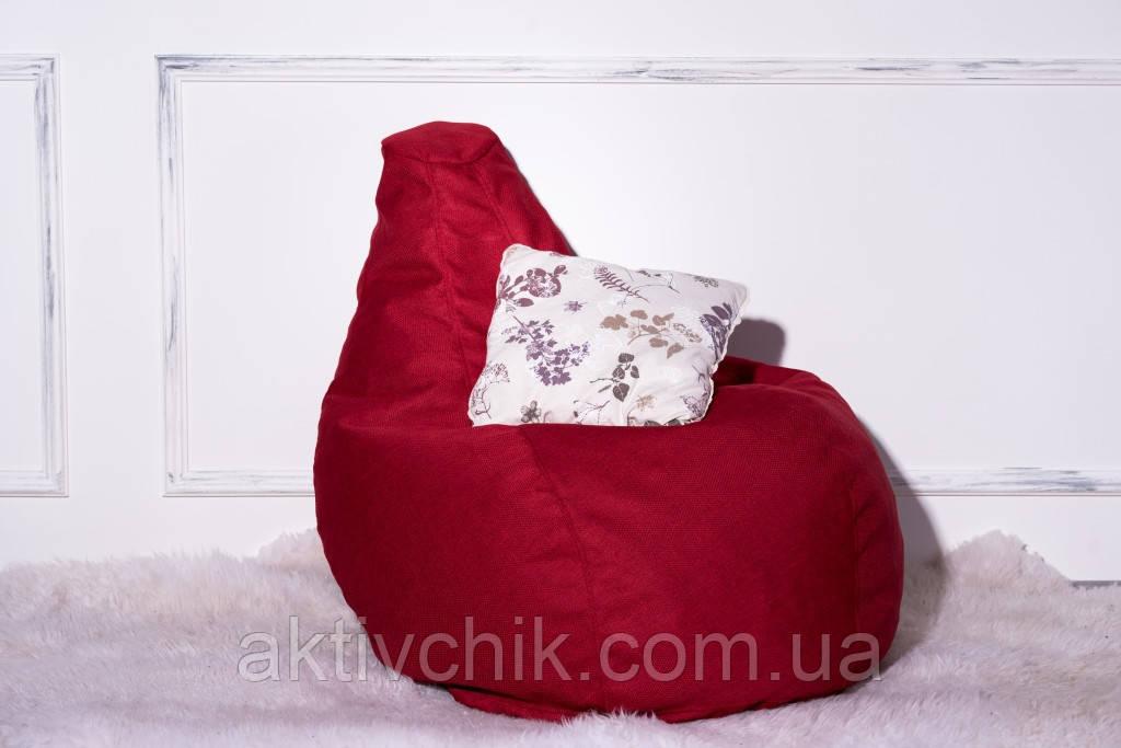 Кресло Груша, мебельная ткань Рогожка М (130*90см) Большой, Красный