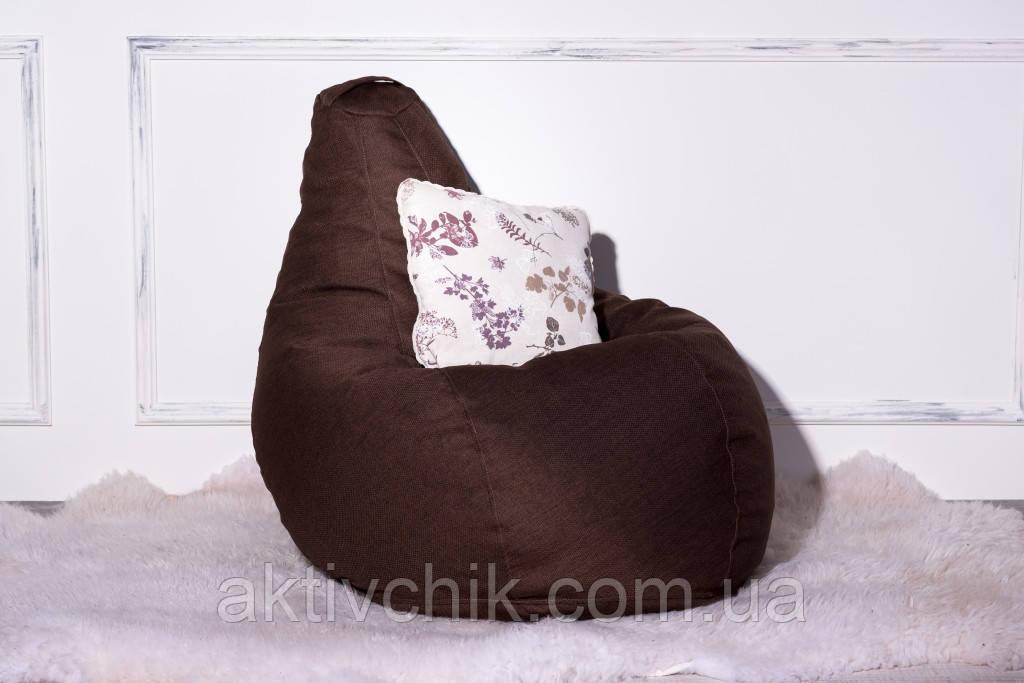 Кресло Груша, мебельная ткань Рогожка L (150*110см) Гигант, Коричневый