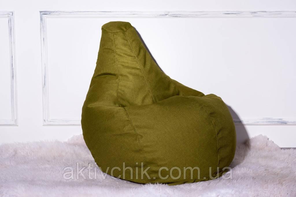 Кресло Груша, мебельная ткань Рогожка L (150*110см) Гигант, Зеленый