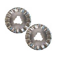 Лезвия дисковые волнистые для ножа MS-15004, 20 мм, 2 шт.