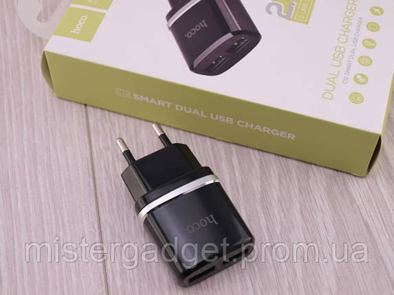 Зарядное устройство сетевое hoco. C12, фото 2