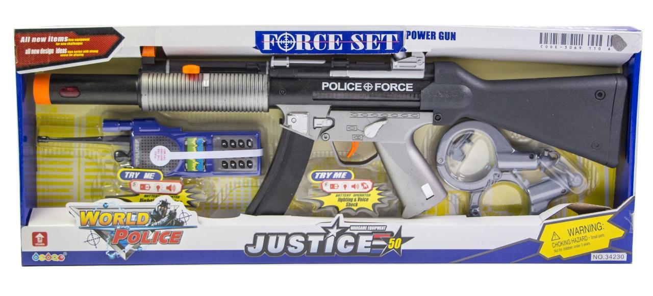 Детский набор полицейский автомат М-16 (34230) оптом