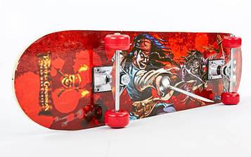 Скейтборд в сборе (роликовая доска)HB157