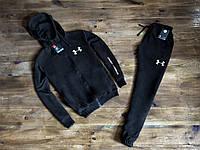 Спортивный костюм на молнии черный Under Armour Андер Армор (РЕПЛИКА)