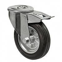 Колеса поворотные с отверстием и тормозом Диаметр: 160мм.Серия 31 Norma , фото 1