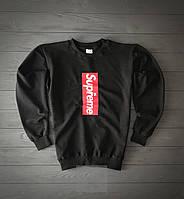 Свитшот черный мужской кофта Supreme LV Суприм весна - осень кофта коллаборация (РЕПЛИКА), фото 1