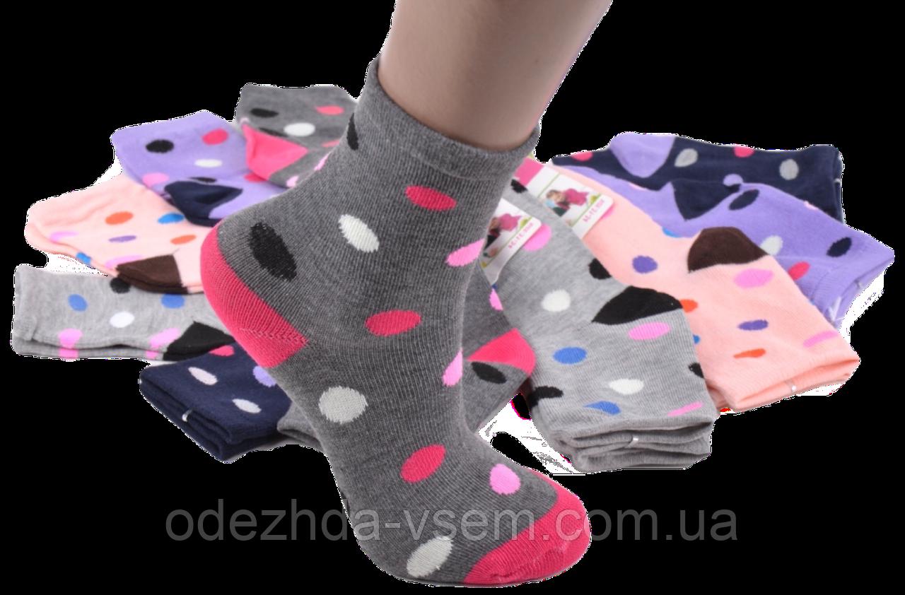 Детские веселые носочки в горошек