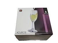 Набор бокалов для шампанского 190 мл 6 шт стеклянных Kouros UniGlass