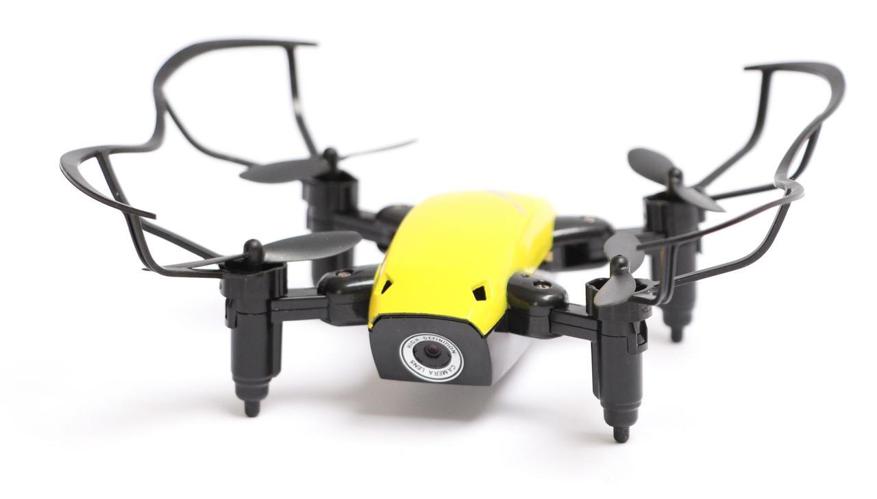 Квадрокоптер Aircraft  S9hw Drone mini с камерой и wi-fi Желтый