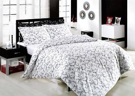 Постельное белье Altinbasak сатин люкс Elis beyaz 200x220 евро