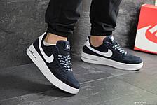 Кроссовки мужские Nike Air Force AF 1,замшевые,темно синие, фото 3