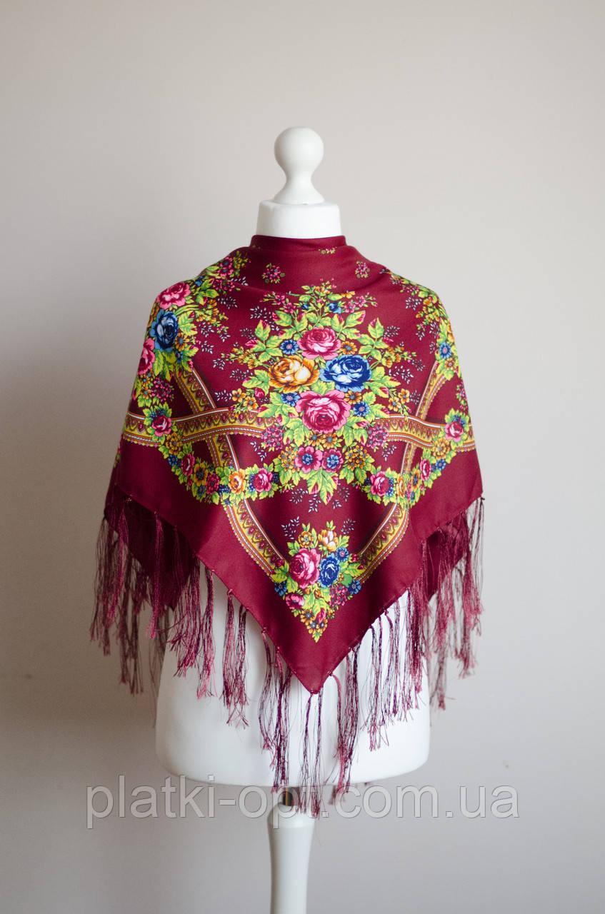 Платок шерстяной с бахромой (Турция)