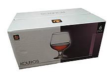 Набор бокалов 240 мл 6 шт стеклянных для коньяка Kouros UniGlass