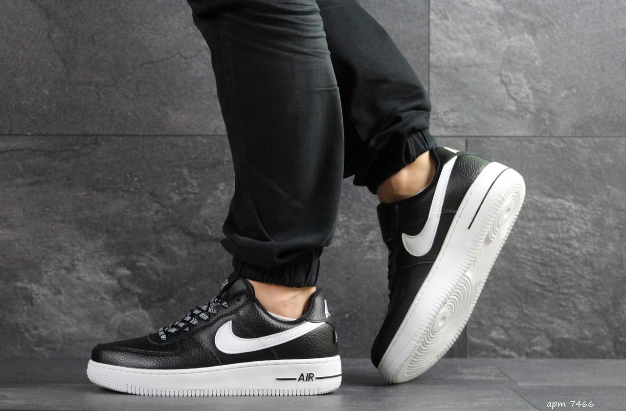 35a85b38 Мужские кроссовки Nike Air Force AF 1 (реплика), черные (7466), цена ...