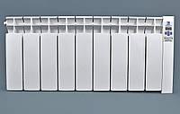 Электрорадиатор низкопольный на 9 секций 1080 Вт ОптиМакс