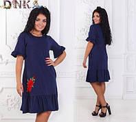 Женское летние трикотажное платье 12721
